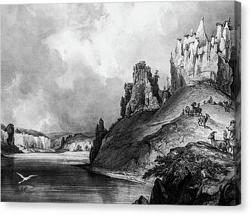 Stone Outcroppings Upper Misouri Canvas Print by Douglas Barnett