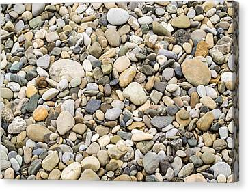 Canvas Print featuring the photograph Stone Pebbles Patterns by John Williams
