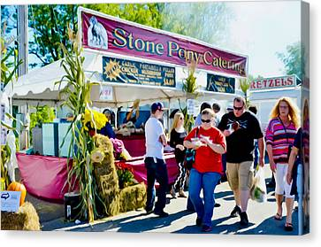Stone Pony Canvas Print - Stone Pony Catering by Lanjee Chee