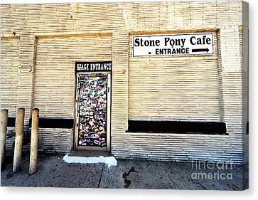 Canvas Print - Stone Pony Stage Entrance by John Rizzuto