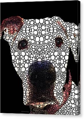 Stone Rock'd Dog 2 By Sharon Cummings Canvas Print