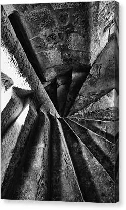 Stone Spiral Stairs Canvas Print by Georgia Fowler