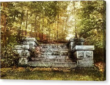 Stone Stairway Canvas Print by HD Connelly