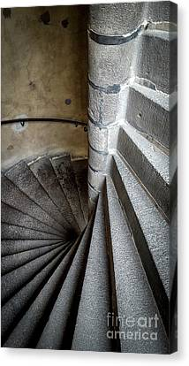 Stone Stairway In Old Building Canvas Print
