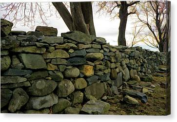 Stone Wall, Colt State Park Canvas Print
