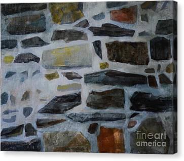 Stone Wall Canvas Print by Jukka Nopsanen
