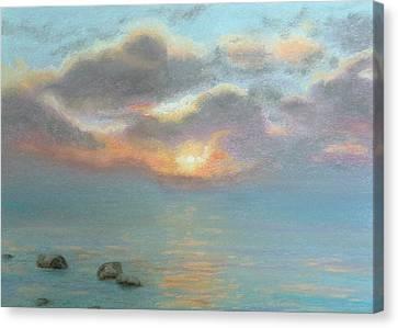 Stone Water Sunrise Canvas Print by Lynn ACourt