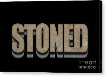 Stoned Tee Canvas Print by Edward Fielding