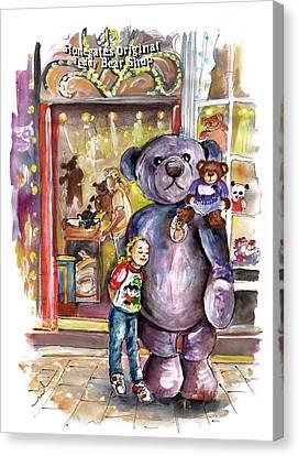 Stonegates Teddy Bear Shop In York Canvas Print