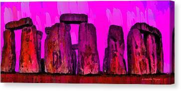 Meadow Canvas Print - Stonehenge 203 - Da by Leonardo Digenio