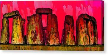 Meadow Canvas Print - Stonehenge 204 - Pa by Leonardo Digenio