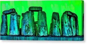 Fields Canvas Print - Stonehenge 207 - Da by Leonardo Digenio