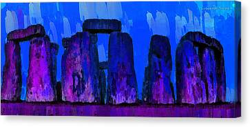 Fields Canvas Print - Stonehenge 209 - Pa by Leonardo Digenio