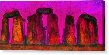 Aged Canvas Print - Stonehenge 220 - Pa by Leonardo Digenio