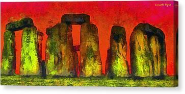 Prehistoric Canvas Print - Stonehenge 221 - Pa by Leonardo Digenio