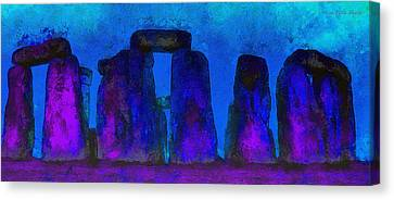 Meadow Canvas Print - Stonehenge 224 - Pa by Leonardo Digenio