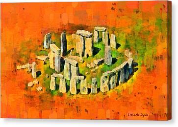 Prehistoric Canvas Print - Stonehenge 401 - Da by Leonardo Digenio