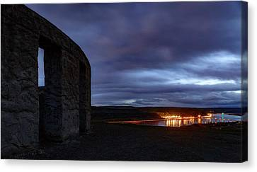 Canvas Print featuring the photograph Stonehenge And The Columbia by Cat Connor