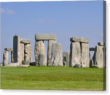 Stonehenge Morning Canvas Print by Bernadette Wulf