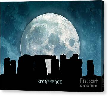 Canvas Print featuring the digital art Stonehenge by Phil Perkins