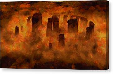 Stonehenge Canvas Print by Esoterica Art Agency