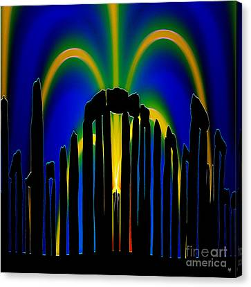 Stonehenge Solstice 2 Canvas Print by Neil Finnemore