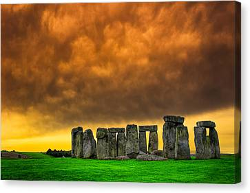 Stonehenge Standing Proud On The Salisbury Plains Canvas Print by Mark E Tisdale