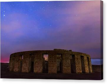 Canvas Print featuring the photograph Stonehenge Sunrise by Cat Connor