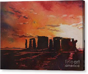 Stonehenge Sunset Canvas Print by Ryan Fox