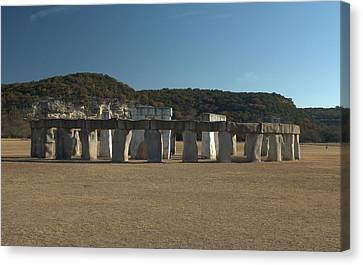 Canvas Print featuring the photograph Stonehenge Two Texas by Karen Musick