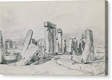 Stonehenge Wiltshire Canvas Print by John Constable