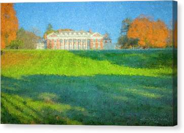 Stonehill College In October Canvas Print