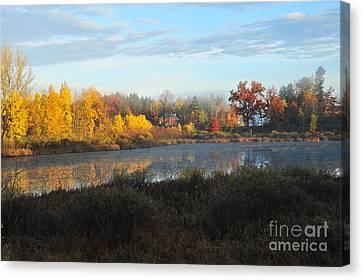 Stoneledge Lake Waldeck Island Nature Preserve Canvas Print by Terri Gostola
