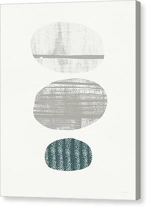 Stones 3- Art By Linda Woods Canvas Print by Linda Woods