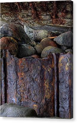 Canvas Print featuring the photograph Rusted Stones 1 by Steve Siri