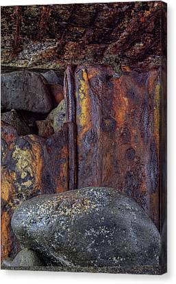 Canvas Print featuring the photograph Rusted Stones 2 by Steve Siri