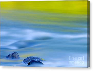 Stones In River Canvas Print by Silke Magino