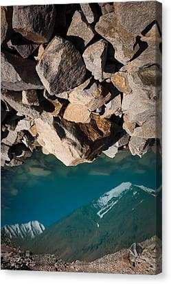 Stones Of Summits Canvas Print by Konstantin Dikovsky