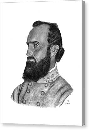Stonewall Jackson Canvas Print by Charles Vogan