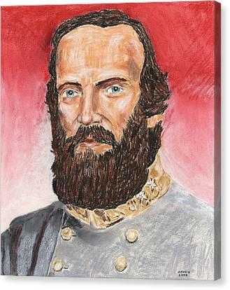 Stonewall Jackson Canvas Print by Dennis Larson