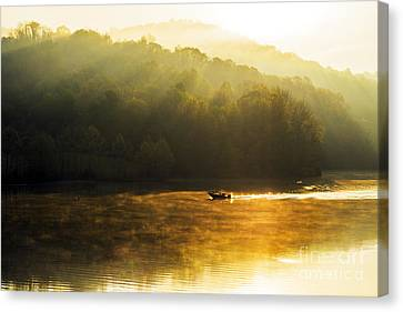 Stonewall Jackson Lake Sunrise Canvas Print by Thomas R Fletcher