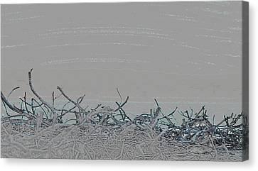 Canvas Print featuring the digital art Stonewalled by Ellen Barron O'Reilly