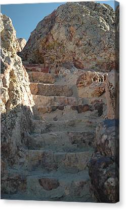 Canvas Print featuring the photograph Stoneway by Lori Mellen-Pagliaro