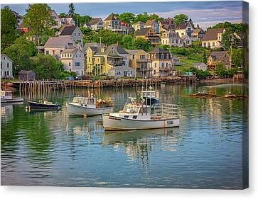 Stonington Harbor Evening Canvas Print by Rick Berk