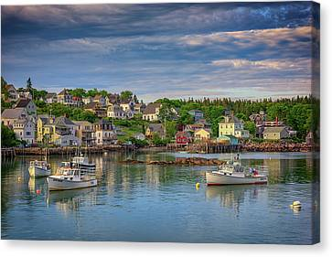 Stonington Harbor Canvas Print by Rick Berk