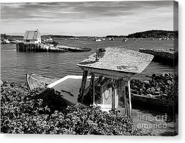 Rocky Maine Coast Canvas Print - Stonington Memories by Olivier Le Queinec