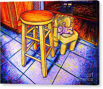 Etc. Canvas Print - Stool by Viktor Lazarev