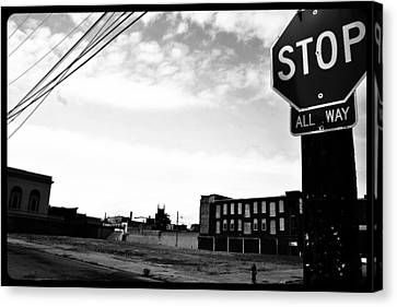 Canvas Print featuring the photograph Stop All Way by Christopher Woods