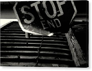 Stop End Canvas Print