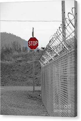 Stop Here And There Too Canvas Print